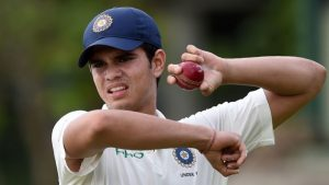 Sachin Tendulkars son Arjun debuts in senior team fast wicket watch video