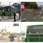 Tractor Rally: Protesters targeted DTC bus, smashed the bus