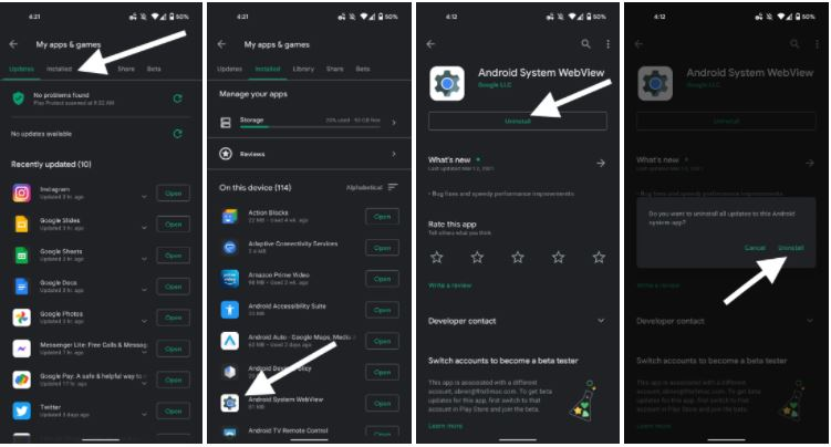 Play Store listing for Android System