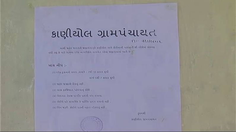 Corona: The villages of Sabarkantha are locked down as the transition to Corona is on the rise.