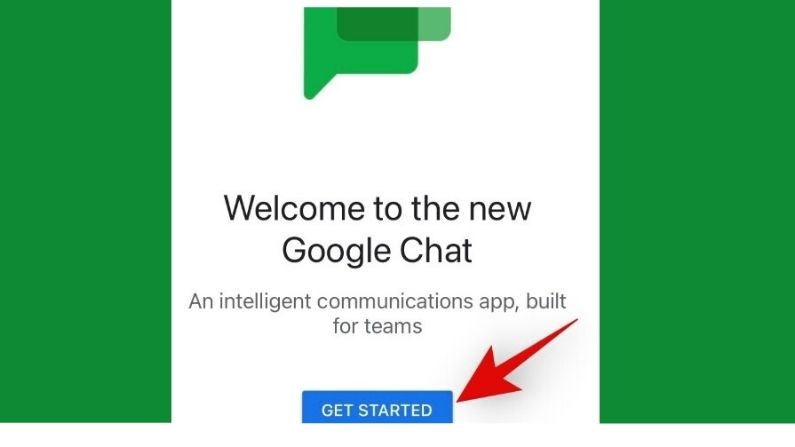 google chat welcome