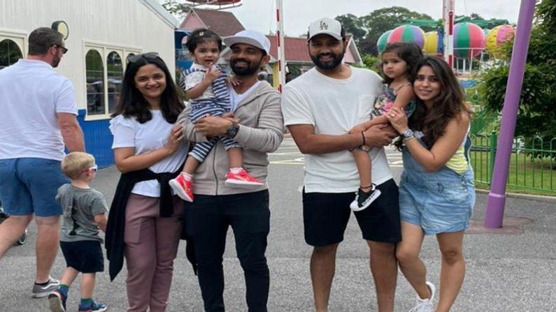 ભારતીય ખેલાડીઓમાં કેટલાક ખેલાડીઓ પરિવાર સાથે ઈંગ્લેન્ડ પ્રવાસે ગયા છે. તેઓ પરીવાર સાથે ઈંગ્લેન્ડમાં ત્રણ સપ્તાહની રજાઓનો આનંદ ઉઠાવ્યો હતો. જેમાંથી કેટલાક પાર્કમાં પહોંચ્યા હતા.