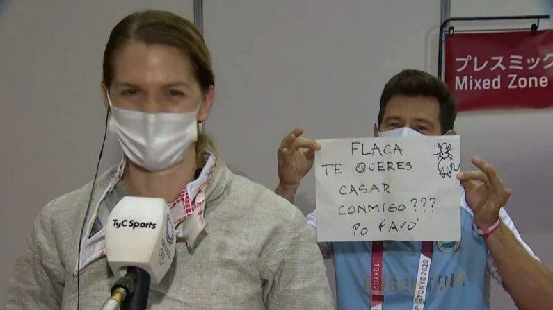 Fencer gets Marriage Proposal from Coach