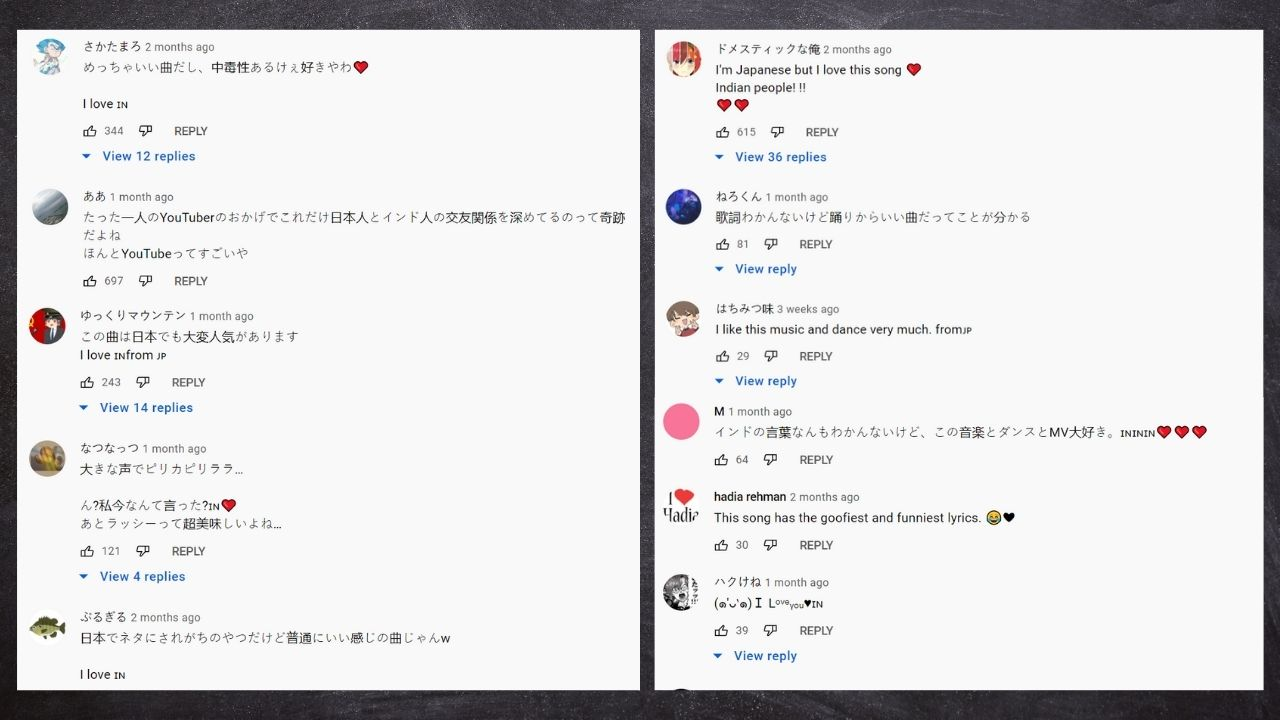 Japanese people commenting on Galti se mistake song