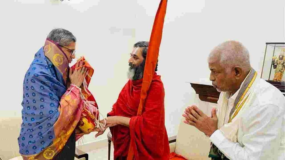 Inauguration Ceremony of Statue of Equality on 2nd February, Chinna Jiyar Swamy invites CJI NV Ramana